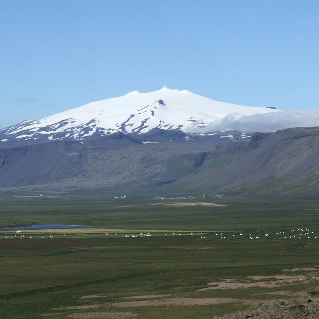 Snaefellsjokull, Snjofell