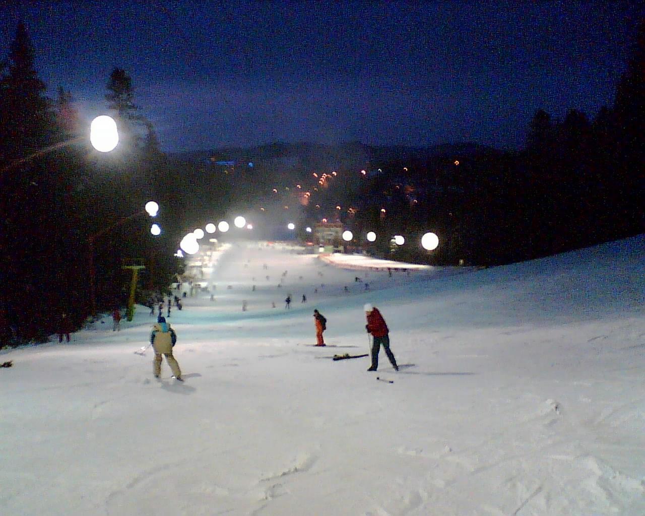 Night Skiing, Poiana Brasov
