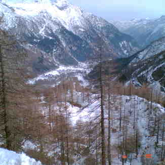 Looking down the valley in Macugnaga