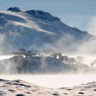 Lago Caviahue en invierno