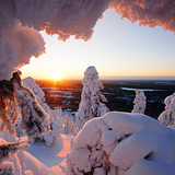 Snow at Rukatunturi, Finland, Finland