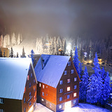 Night snow Drahobrat, Ukraine, Ukraine