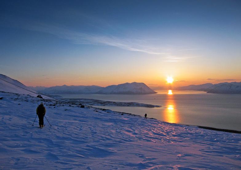 Cross county skiing, Jægervatnet,Troms Fylke,Norway