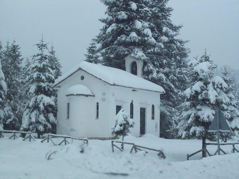 Church Before Pertouli Ski Center