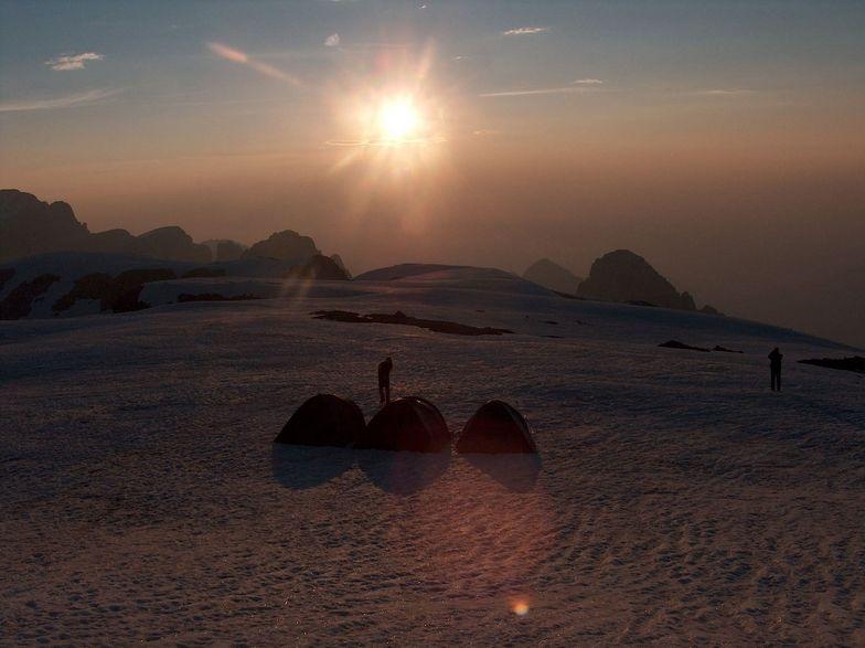 6 o'clock summer sunset at Mont Viso, Cortina