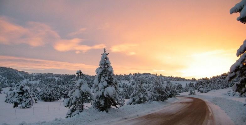 accès au Domaine Nordique, Gréolières Les Neiges