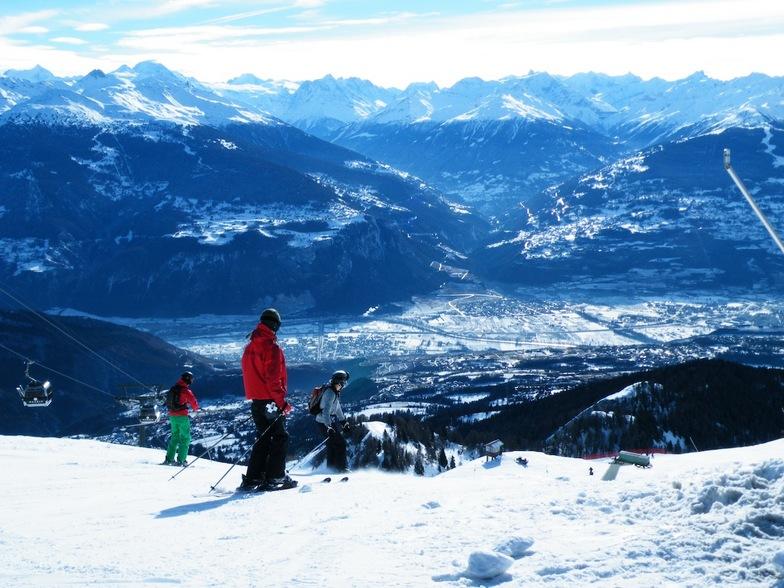 From the top, Pas de Maimbré, Anzère