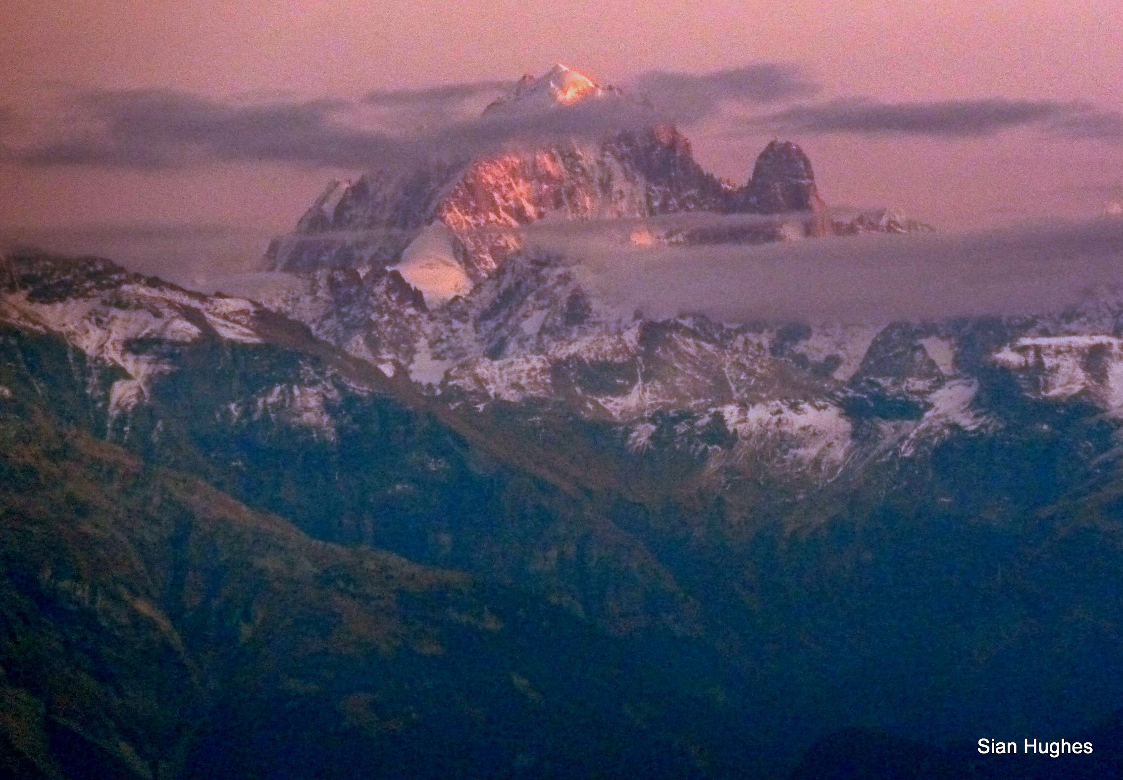 Sunset on the Grand Montets, Chamonix