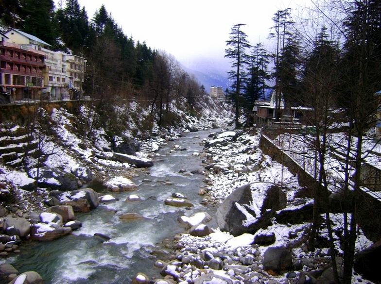 snow capped rocks, Himalaya Heliski