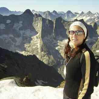 Mrs Roo on the Dome de la Lauze, La Grave-La Meije