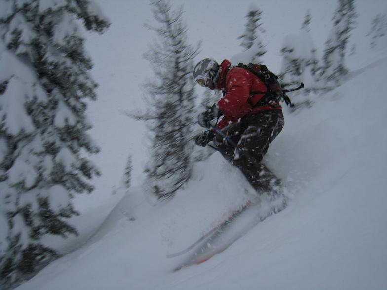 Skiing the Horse Dec 11, Kicking Horse