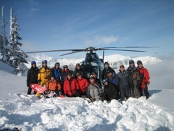 Northern Escape Heli-Skiing Guests week 7, Northern Escape Heli Skiing photo