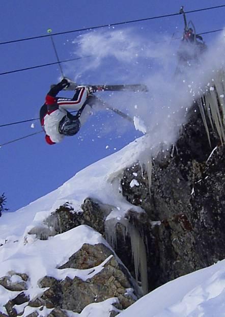 Flipping off in Alpe d'Huez, Alpe d'Huez