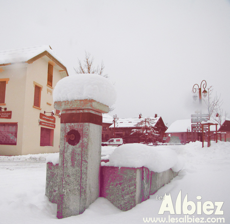 Bottom of the village of Albiez-Montrond