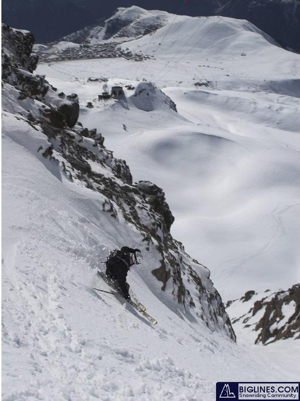 bad roo in Couloir de Cheminee du Mascle, Alpe d'Huez, Alpe d'Huez