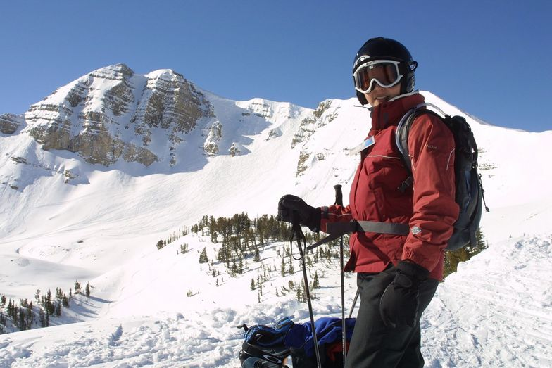 Mrs Roo ponders the hike up Cody Peak, Jackson Hole