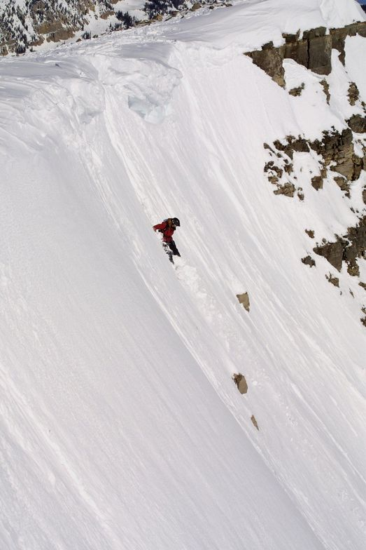Steep skiing at Cody Peak, Jackson Hole