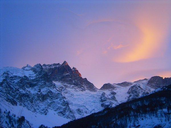 Sunset over La Meije, La Grave-La Meije