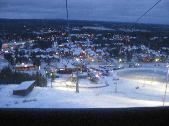 levi town from ski lift