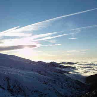 mar de nubes, Sierra Nevada