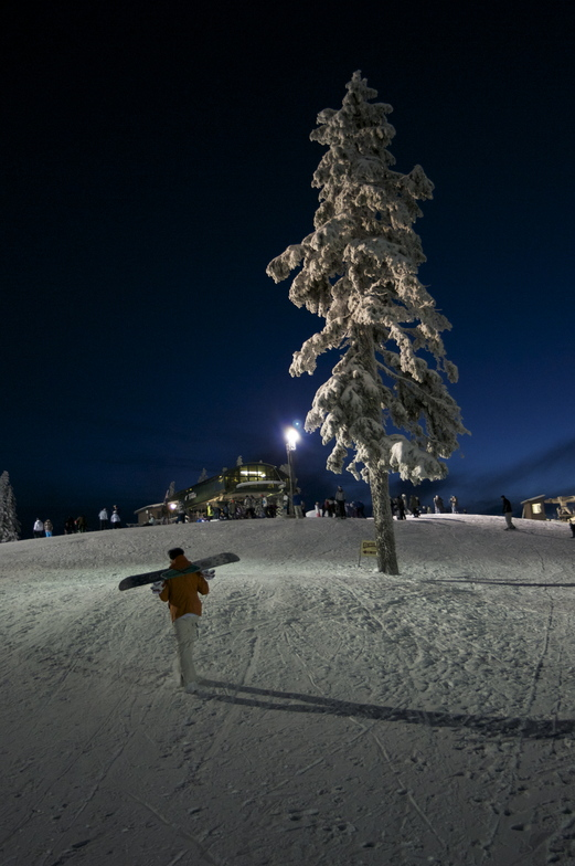 Winter Evening, Grouse Mountain