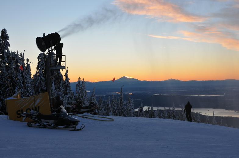 Making it Snow, Grouse Mountain