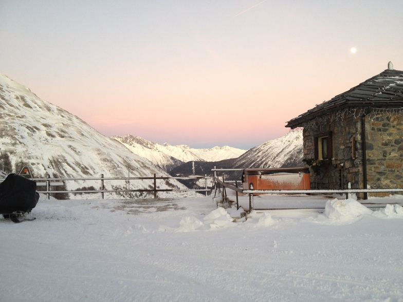 jacuzzi et snow, La Thuile