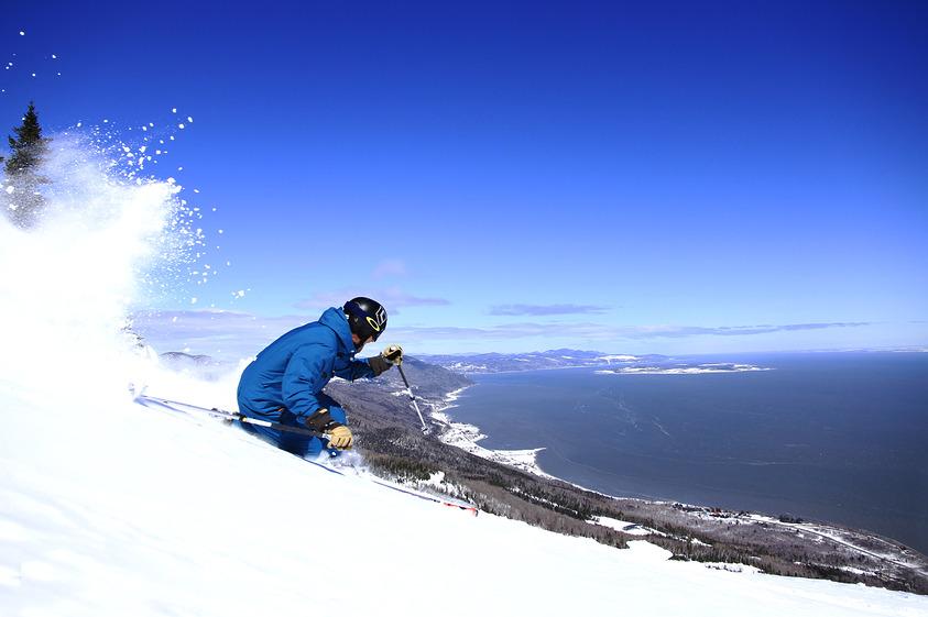 The view, Le Massif Ski Area