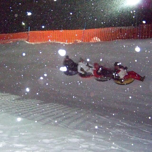 Snowtubing, Saas Grund