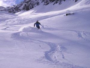 Fresh tracks, Andermatt photo