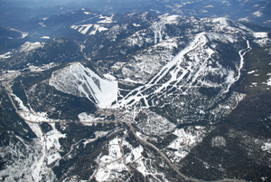 Aerial View of Red Mountain Resort photo