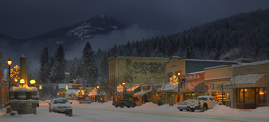 Columbia Ave. in Rossland, BC, Red Mountain Resort photo