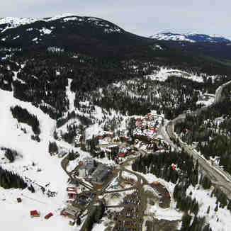 Aerial View of Base, Red Mountain Resort
