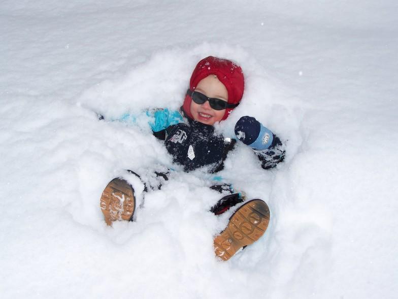 Bedje van sneeuw, Anzère