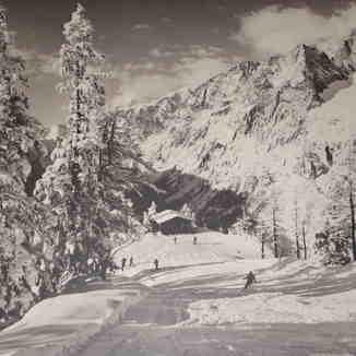 1970's Skiing Scene, Courmayeur