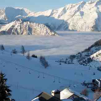 Low Cloud Base At Alpe d'Huez