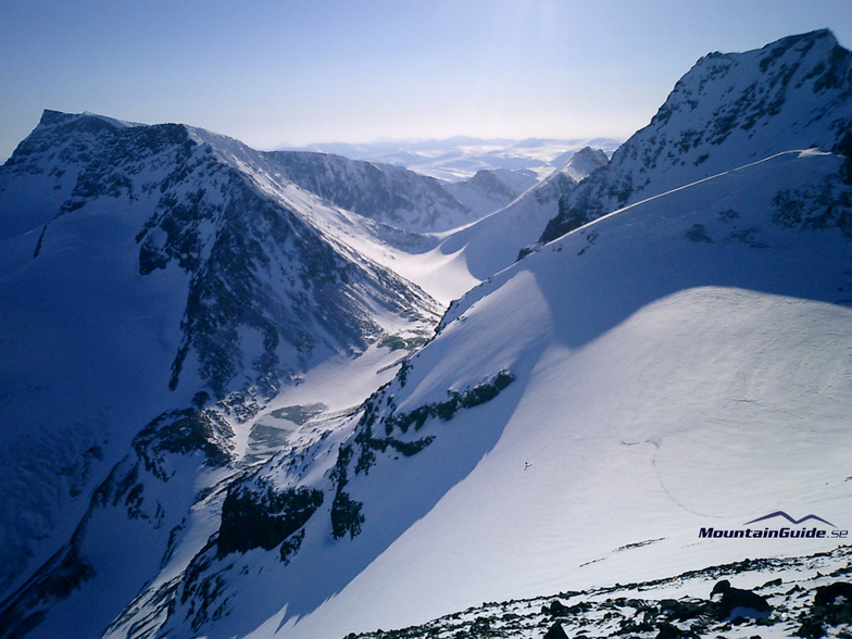 Ski touring in the area of Kebnekaise, Sweden
