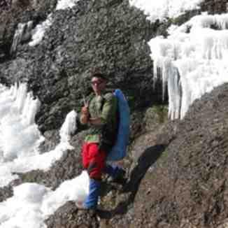 Sangan Icy Waterfall