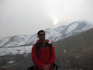 Top Of Sangan Icy Waterfall