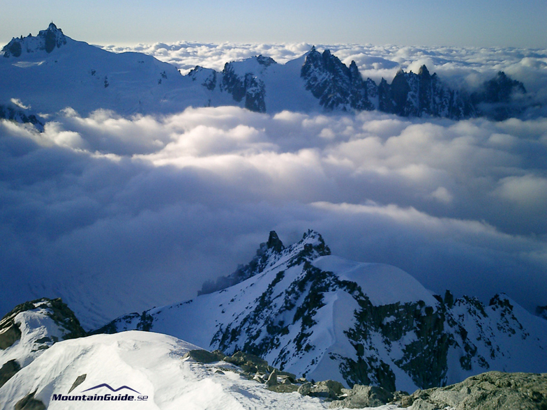 Valle Blanche from Dent du Geant, Chamonix