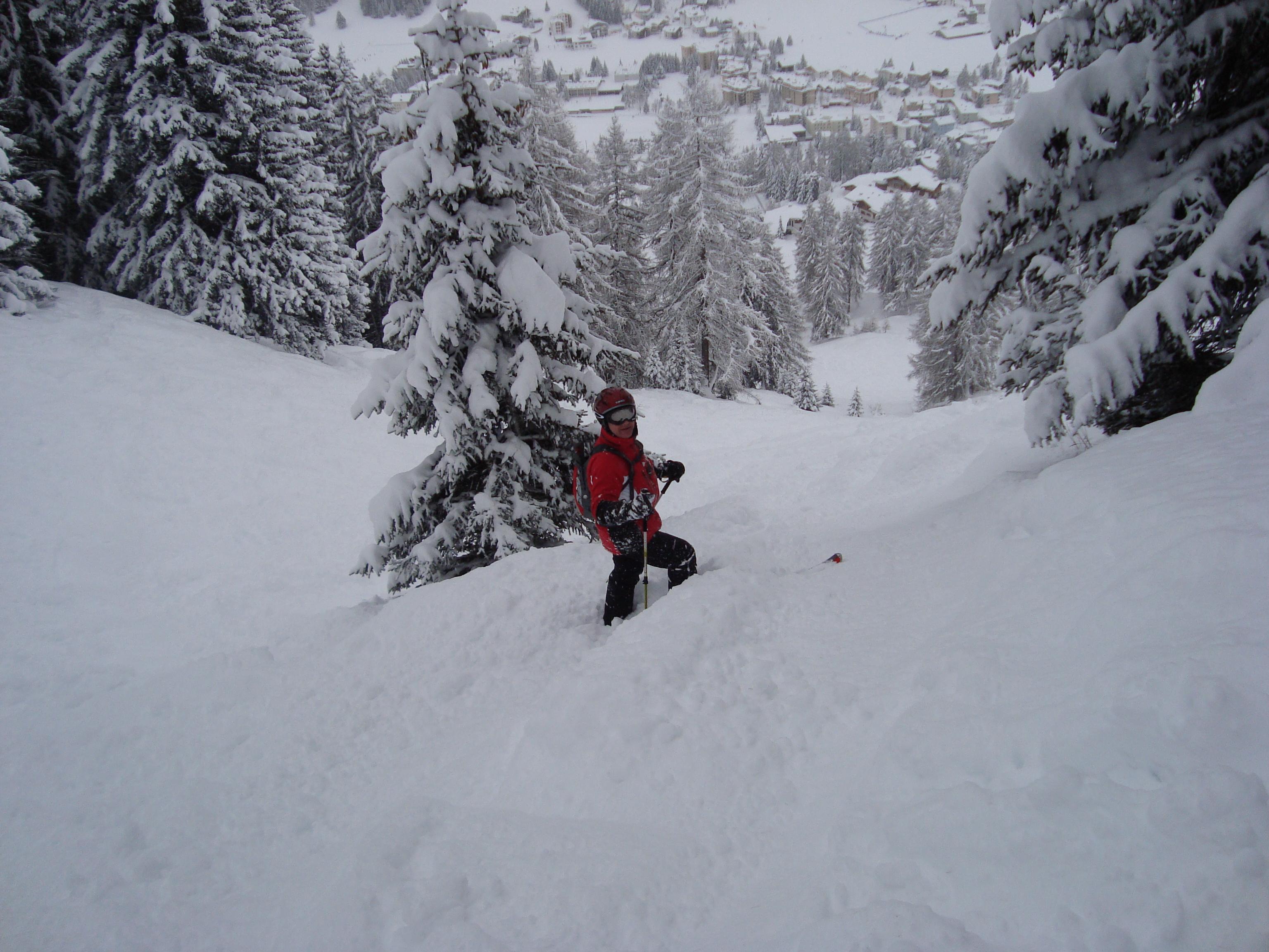 The snow on Parsenn just before Xmas, Davos