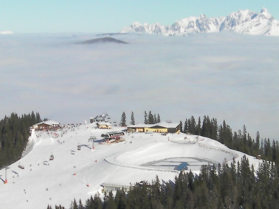 Graffenburg above the clouds, Wagrain