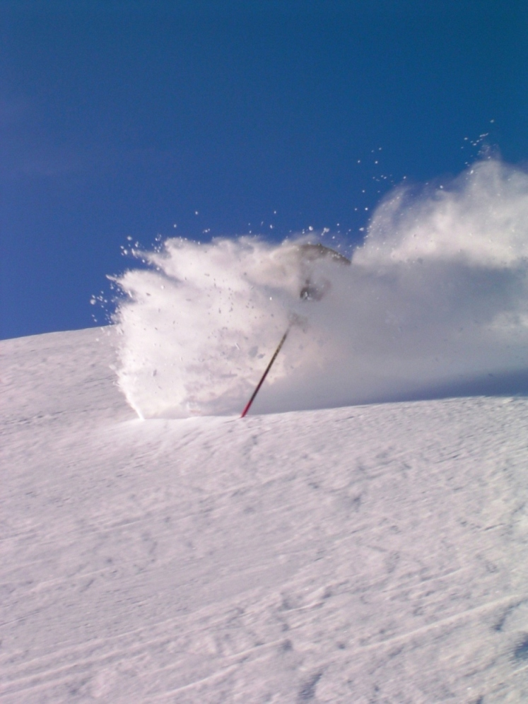 Blue Face shot!!!, Northern Escape Heli Skiing