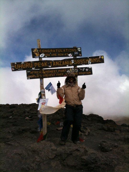 Allison Dingle, Mount Kilimanjaro