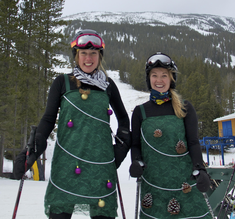 Castle Staff Embracing the Christmas Spirit, Castle Mountain Resort