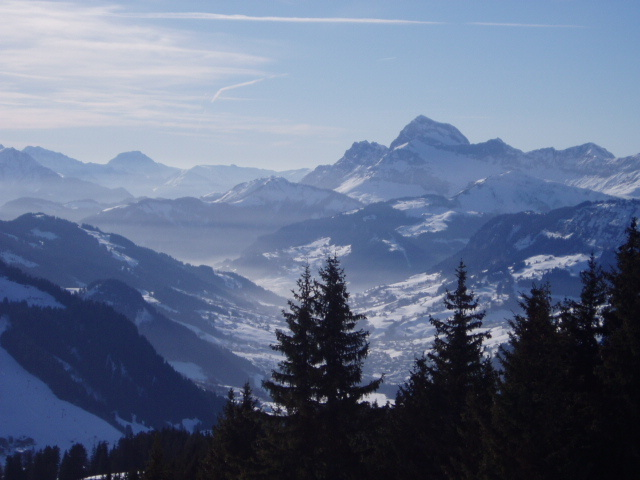 THE best place to sit and reflect, Megeve