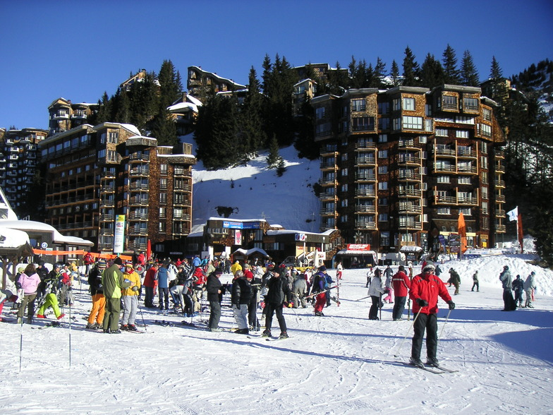 Avoriaz, and it's coats of many colours.