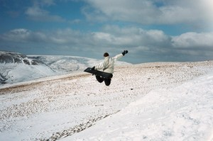 Snowboarding on Pen Y Fan, Pen-y-Fan photo