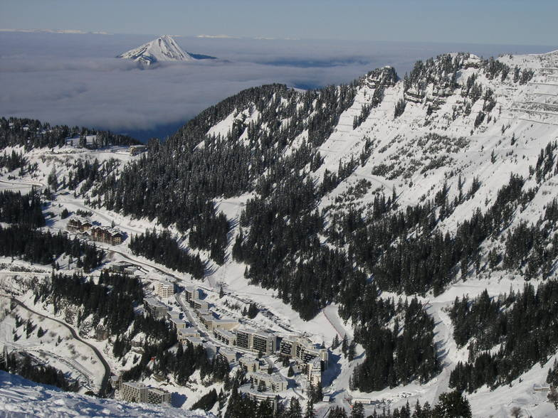Flaine village from above