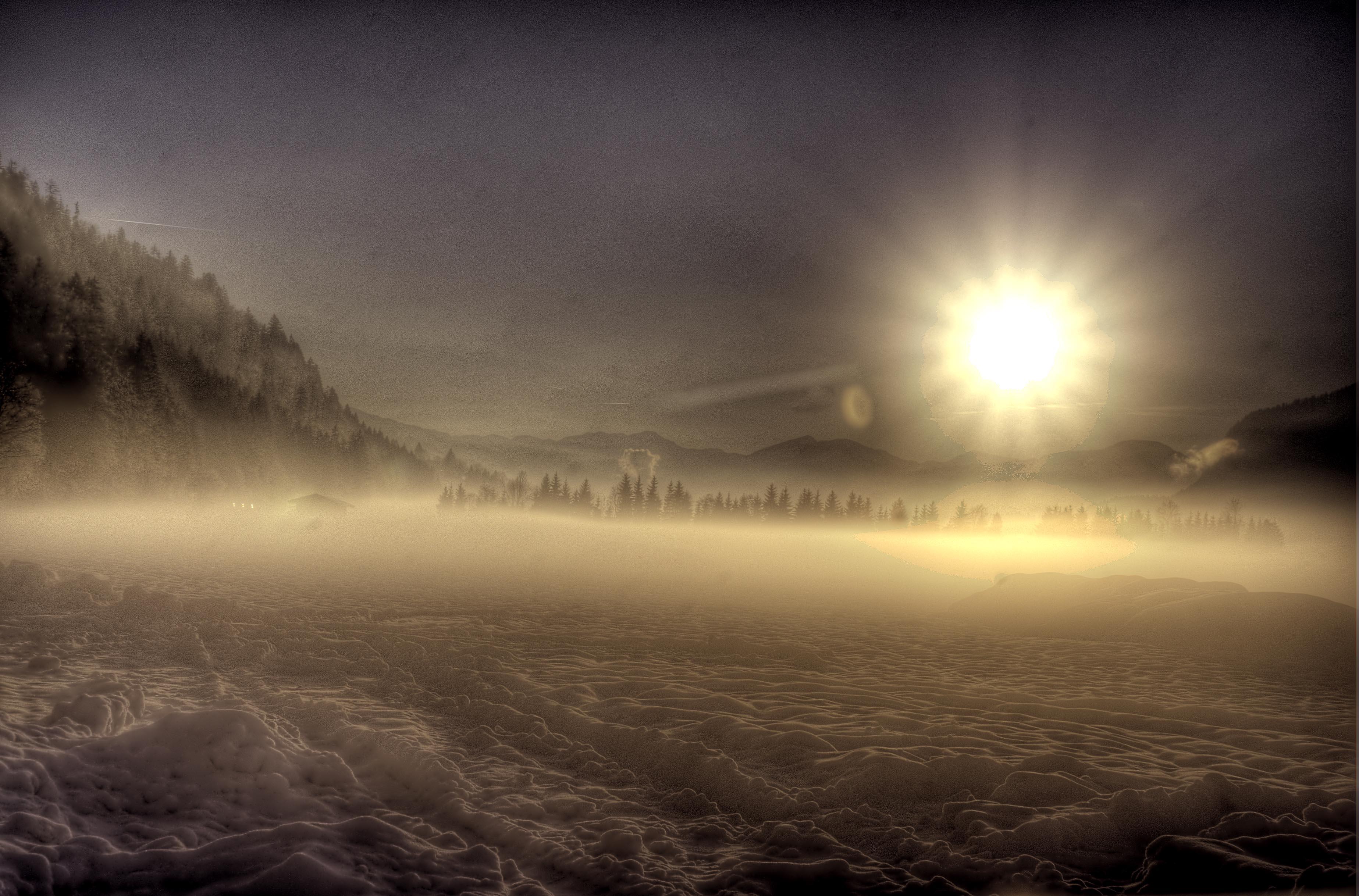 misty valley, St Johann in Tirol